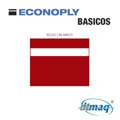 Econoply Básicos, Rojo/Blanco, x Plancha