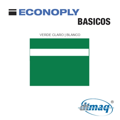 Econoply Básicos, Verde Claro/Blanco, x Tercio