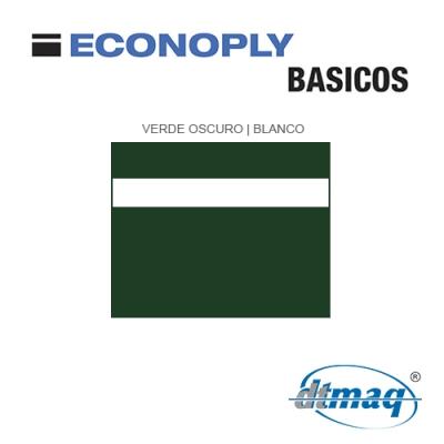 Econoply Básicos, Verde/Blanco, x Tercio
