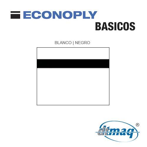 Econoply Básicos, Blanco/Negro, x Tercio