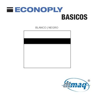 Econoply Básicos, Blanco/Negro, x Plancha