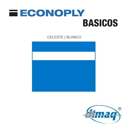 Econoply Básicos, Celeste/Blanco, x Plancha