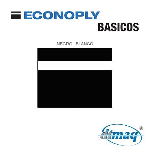 Econoply Básicos, Negro/Blanco, x Tercio