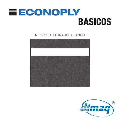 Econoply Básicos, Negro Texturado/Blanco, x Plancha