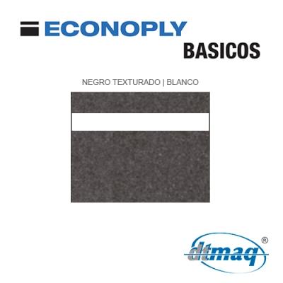 Econoply Básicos, Negro Texturado/Blanco, x Tercio