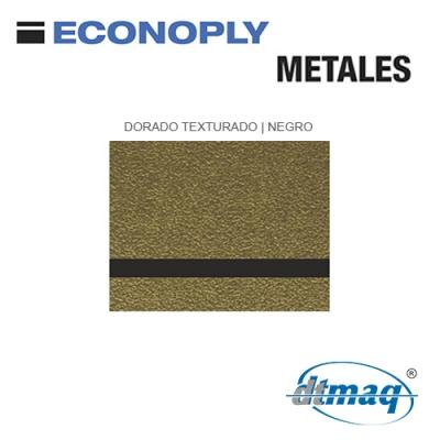 Econoply Metales, Dorado Texturado/Negro, x Plancha