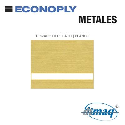 Econoply Metales, Dorado Cepillado/Blanco, x Plancha