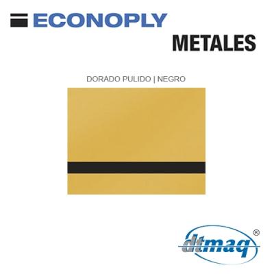 Econoply Metales, Dorado Pulido/Negro, x Tercio