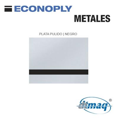 Econoply Metales, Plata Pulido/Negro, x Tercio