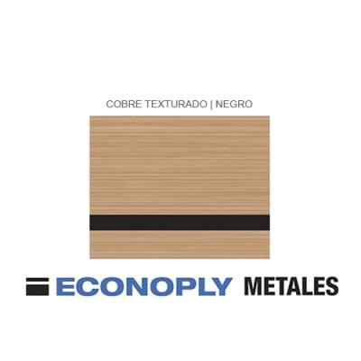Econoply Metales, Cobre Cepillado/Negro, x Plancha