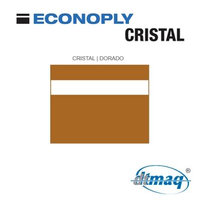Econoply Cristal, Cristal/Dorado, Grabable por detrás, x Plancha