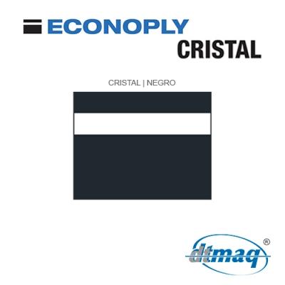 Econoply Cristal, Cristal/Negro, Grabable por detrás, x Tercio