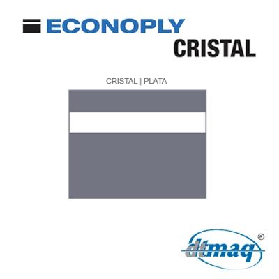 Econoply Cristal, Cristal/Plata, Grabable por detrás, x Tercio