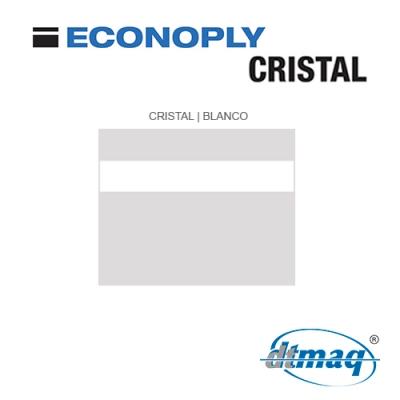 Econoply Cristal, Cristal/Blanco, Grabable por detrás, x Plancha