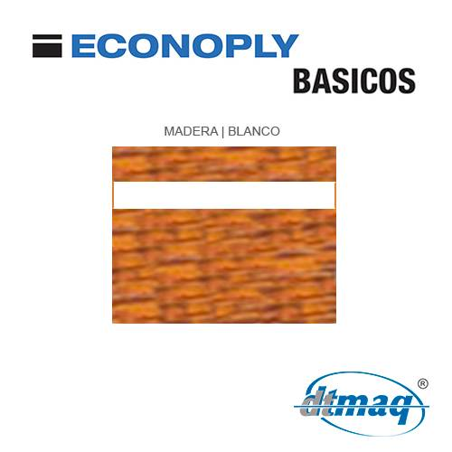 Econoply Básicos, Madera/Blanco, x Plancha