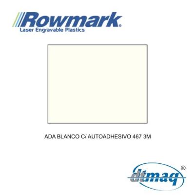 Rowmark ADA Blanco c/ autoadhesivo 467 3M, plancha
