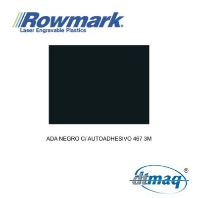 Rowmark ADA Negro c/ autoadhesivo 467 3M, plancha