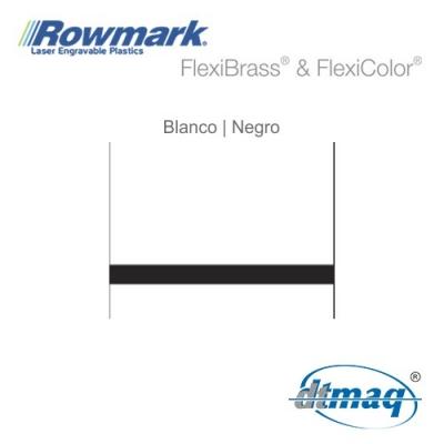 Rowmark FlexiColor Blanco/Negro, plancha