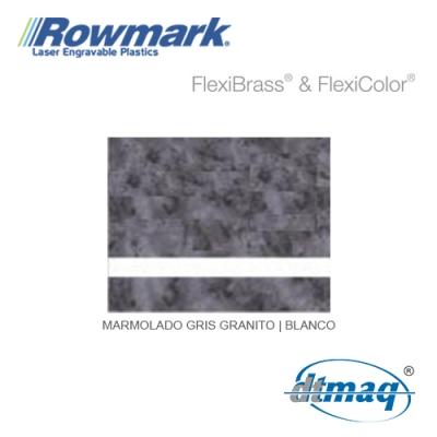 Rowmark FlexiColor Marmolado Gris Granito/Blanco, Tercio