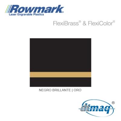 Rowmark FlexiBrass Negro Brillante/Oro, Tercio