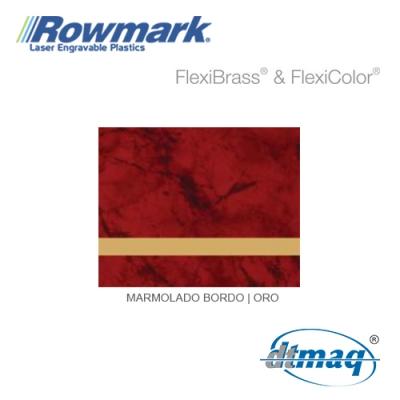 Rowmark FlexiBrass Marmolado Bordó/Oro, Tercio