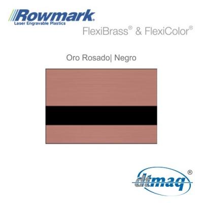 Rowmark FlexiBrass Oro Rosado/Negro, plancha