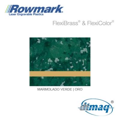 Rowmark FlexiBrass Marmolado Verde/Oro, plancha