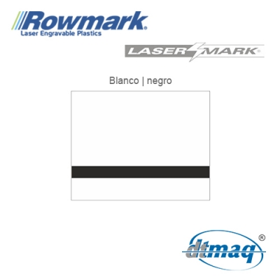 Rowmark LaserMark Blanco/Negro, Tercio