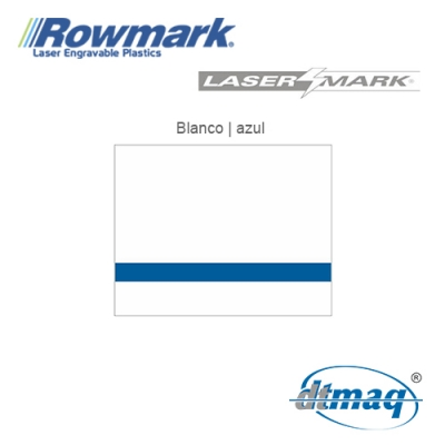 Rowmark LaserMark Blanco/Azul, Tercio