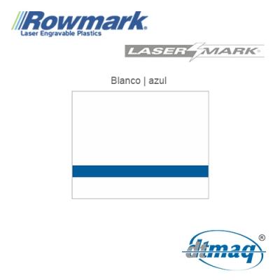 Rowmark LaserMark Blanco/Azul, plancha
