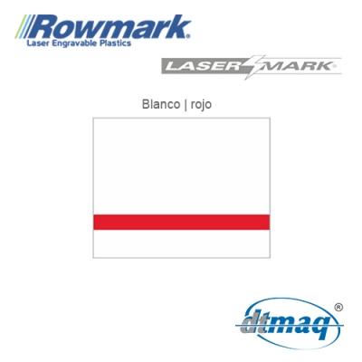 Rowmark LaserMark Blanco/Rojo, Tercio