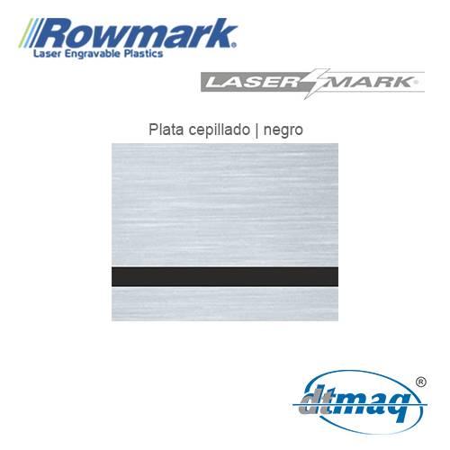 Rowmark LaserMark Plata Cepillado/Negro, plancha