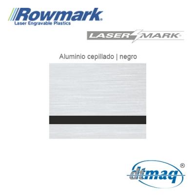 Rowmark LaserMark Aluminio Cepillado/Negro, Tercio
