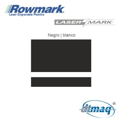 Rowmark LaserMark Negro/Blanco, Tercio