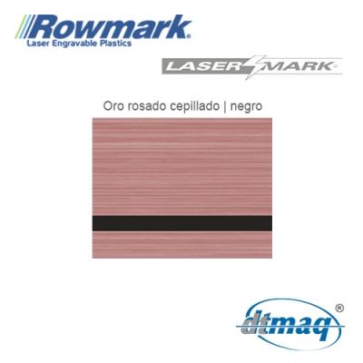 Rowmark LaserMark Oro Rosado/Negro, Tercio