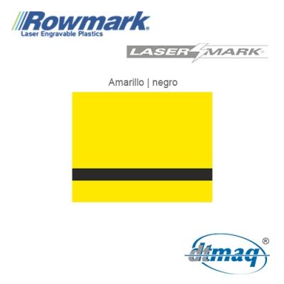 Rowmark LaserMark Amarillo/Negro, Tercio
