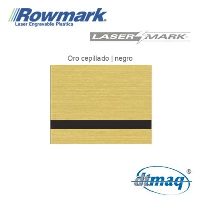 Rowmark LaserMark Oro Cepillado/Negro, Tercio