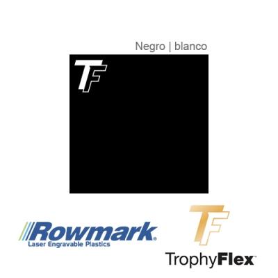 Rowmark TrophyFlex Negro/Blanco autoadhesivo, x Paquete