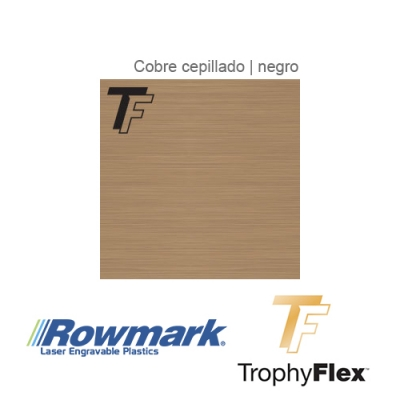 Rowmark TrophyFlex Cobre Cepillado/Negro autoadhesivo, x Paquete