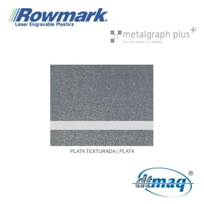Rowmark MetalGraph Plus Plata Texturado/Plata, Tercio