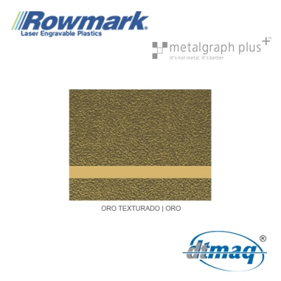 Rowmark MetalGraph Plus Oro Texturado/Oro, Tercio