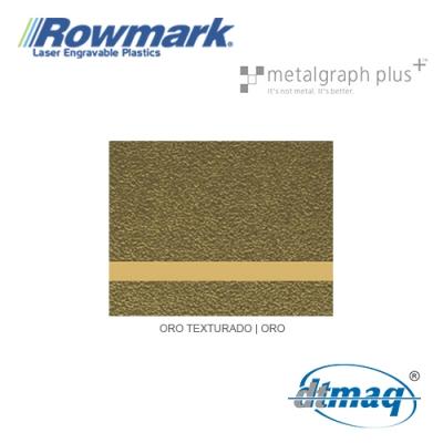 Rowmark MetalGraph Plus Oro Texturado/Oro, plancha