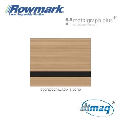 Rowmark MetalGraph Plus Cobre Cepillado/Negro, Tercio
