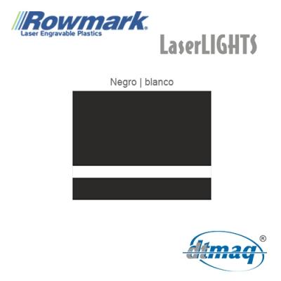 Rowmark LaserLIGHTS Negro/Blanco autoadhesivo, x Paquete