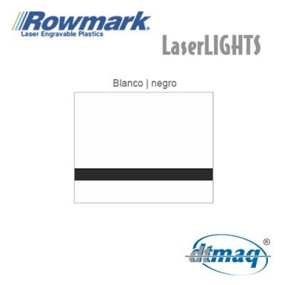 Rowmark LaserLIGHTS Blanco/Negro autoadhesivo, x Paquete