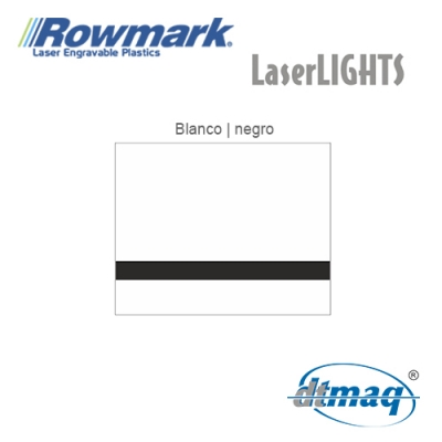 Rowmark LaserLIGHTS Blanco/Negro autoadhesivo, plancha