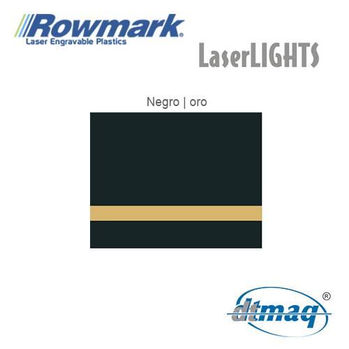 Rowmark LaserLIGHTS Negro/Oro autoadhesivo, x Paquete