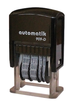 Sello Fechador Automatik 909-DS (20x5 mm. fecha 4 mm)